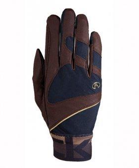 Roeckl Sports Handschuh -Milton, Unisex Reithandschuhe, Bund dehnbar, Mokka Größe 8