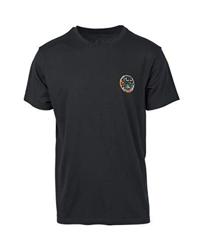 RIP CURL Herren Reiter T-Shirt Tee Top Schwarz