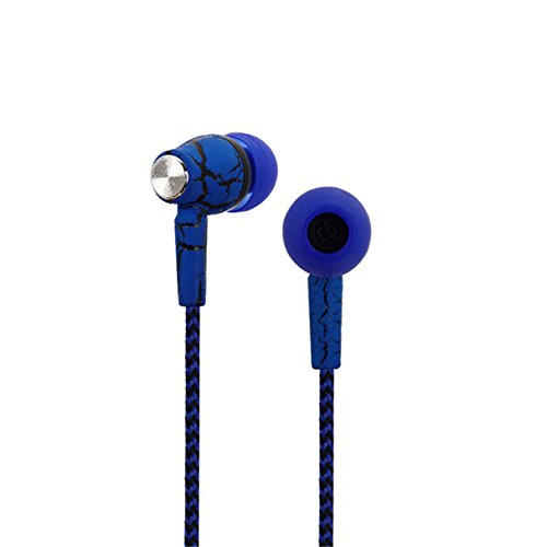 Colorful Design Special Noise Cancelling Crack Pattern earphone with Mic (blue)