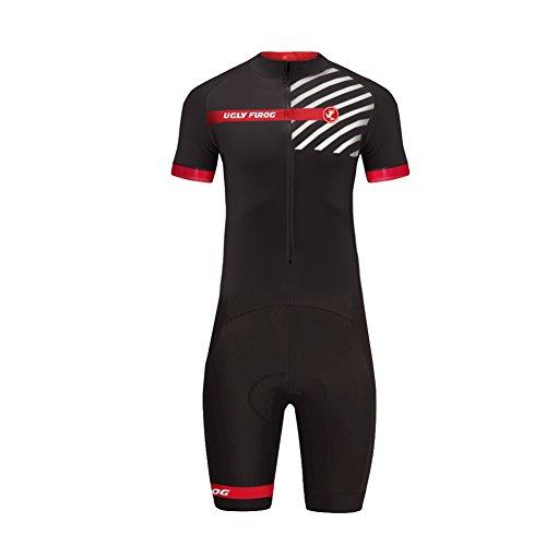 Uglyfrog Bike Wear Radsport Bekleidung Herren MTB Triathlon Tri Suit Schnell Trocknender Skinsuit Atem Triathlon Rennanzug Kurzarm/Lange Ärmel Summer Style (Craft Bekleidung Triathlon)