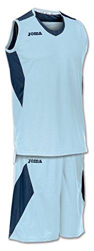 Joma Space - Basketball-Shirt und -Hose für Herren, Farbe weiß / marineblau.  Größe M hellblau/dunkelblau