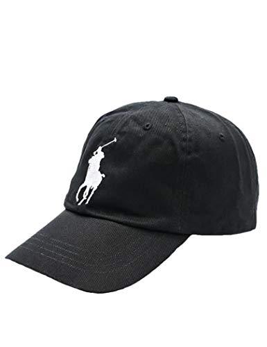 Ralph Lauren zwart Big pony Kappe - eine Größe, Schwarz