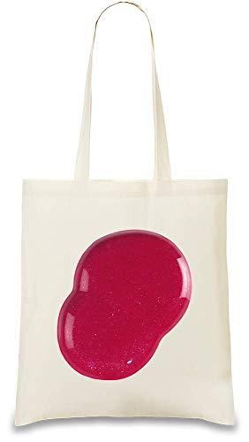 Rosa glänzendes Drib - Pink Shining Drib Custom Printed Tote Bag  100% Soft Cotton  Natural Color & Eco-Friendly  Unique, Re-Usable & Stylish Handbag For Every Day Use  Custom Shoulder Bags By
