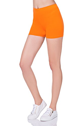 futuro fashion super weich Baumwollshorts elastischer Stretch Yoga Schlüpfer UK 8-22 PSL5 Orange