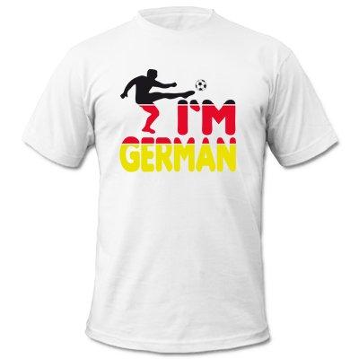 DEUTSCHLAND MOTIV 2 - Kinder T-Shirt Weiss / Schwarz-Rot-Gelb Gr.98-104 hier kaufen
