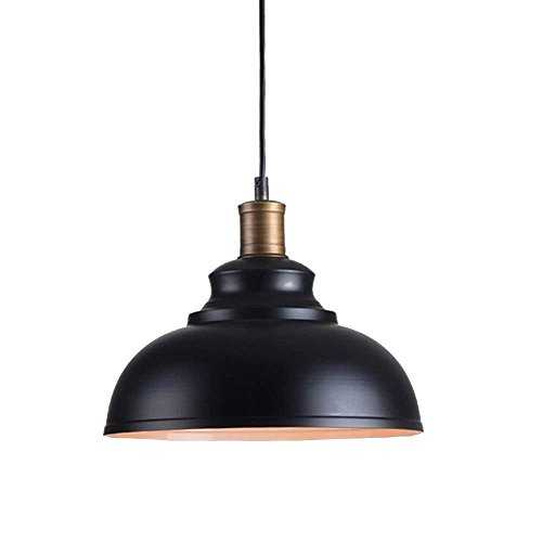 OYI Lampe de Plafond Vintage Luminaire Plafond Métal Dome Ombré Noir pour Salle à Manger Salon Restaurant Couloir Café