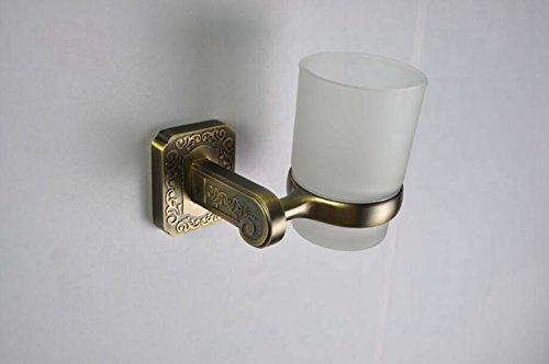 Sucastle Patron alliage de zinc bronze vert pendentif salle de bains lavage tasse simple brosse à brosse Alliage de zinc Bronze QWERT