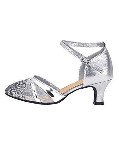 SPDYCESS Damen Tanzschuhe Gesellschaftstanz Pumps Latein Schuhe Salsa Tango Ballroom Funkelnde Glitzer Tanzschuhe - 5cm Damen Pump
