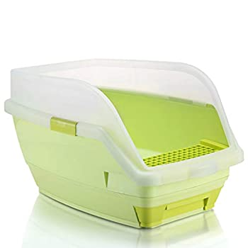 Wcx Rotin Toilette Chat,Toilette Animaux Chats Loo Jante Type De Tiroir Ouvrir 580 * 380 * 350MM (Couleur : Green, Taille : 580 * 380 * 350mm)