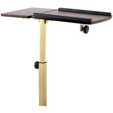 TV Das Original 07162 Table Maxx - Mesa regulable con ruedas, color latón