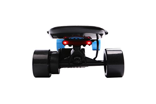 Yuneec E-GO 2 Elektro Skateboard Longboard + LED Beleuchtung Board & Lampe Set (Blau)