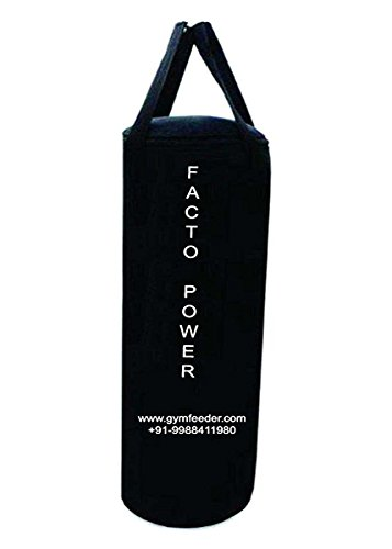 FACTO POWER 1.5 Feet Long, Black Color, Canvas Material, UN-Filled, Punching Bag with Hanging Strap  available at amazon for Rs.399