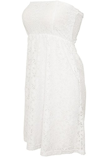 Ladies Laces Dress Freizeitkleid White