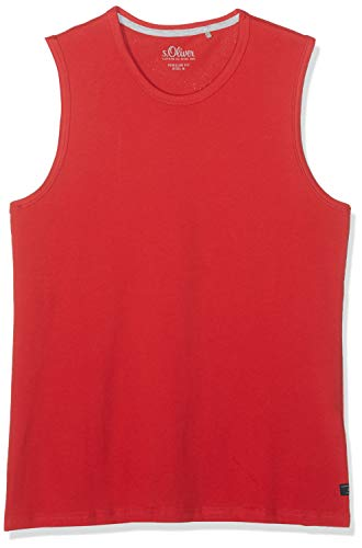 s.Oliver Herren 13.904.33.5269 Top, Rot (Cherry 3250), Large (Herstellergröße: L)