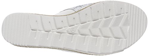 Jana 27290, Mules Femme Blanc (White/silver)