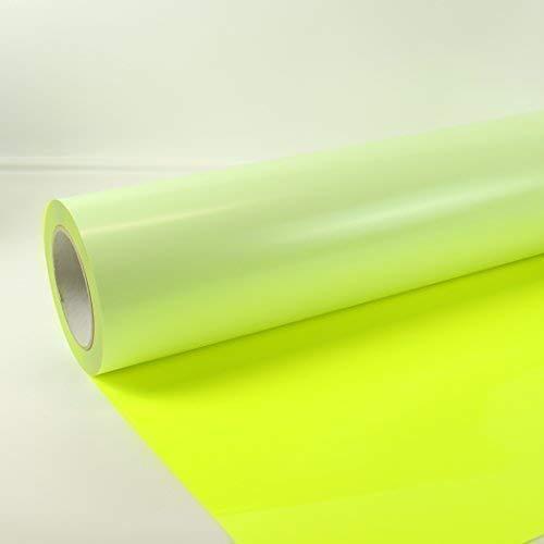 1m x 0,5m Poli-Flex Premium Folie Neon Gelb 440 Flexfolie Buegelfolie Poli-Flex