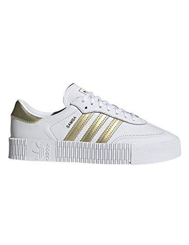 adidas Originals Sneaker SAMBAROSE W EE4681 Weiß Gold, Schuhgröße:37 1/3 (Adidas Turnschuhe Weiß Damen)