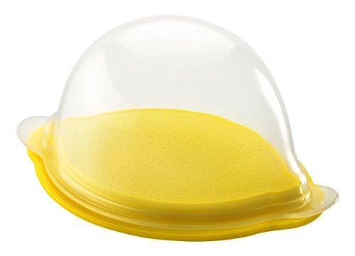 """Metaltex 235150080\"""" Fresh Lemon - Frischebehälter Zitrone, Silikon/PP, transparent/gelb, 7.4 x 15 x 12.4 cm"""
