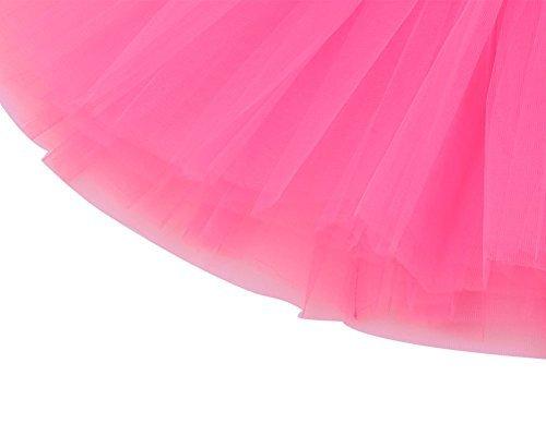 f-eshion Erwachsene/Frauen Ballett Tutu Layered Organza Lace Mini Rock