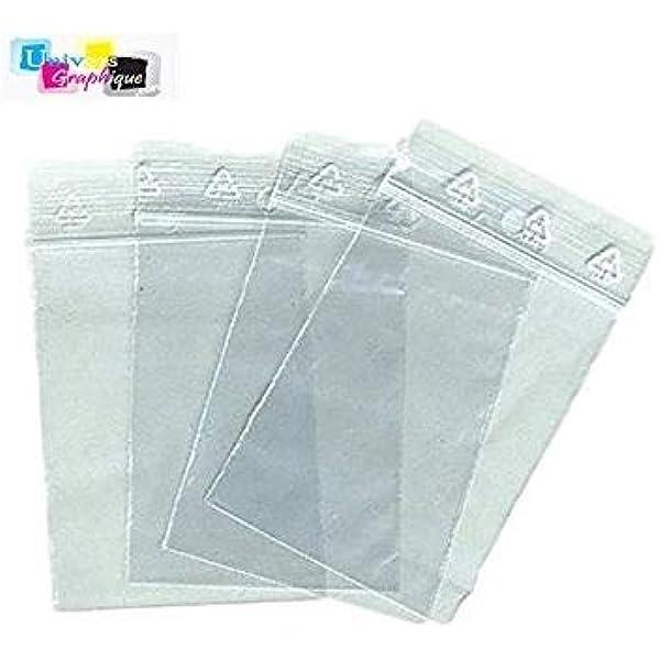 200 sachets pochettes avec fermeture 11//15.5cm 30µm transparents en OPP