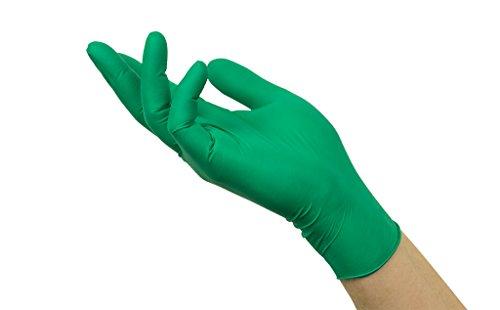 Microflex Ansell 73-847 / 9.5-10 Mehrzweckhandschuhe, Chemikalien und Flüssigkeitsschutz, Größe 9,5-10, Grün (100 Handschuhe pro Spender)