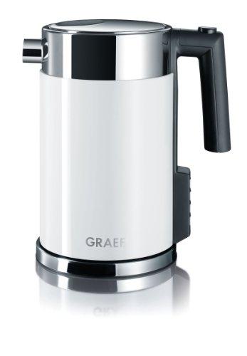 Gebr. Graef WK701 Wasserkocher mit Temperatureinstellung / Edelstahl-Acryl weiß