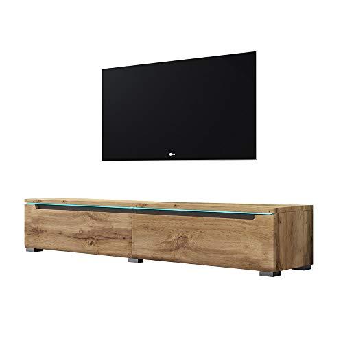 Swift - Fernsehschrank/Tv-Lowboard In Holzoptik Wotan Eiche Matt Mit Led Hängend Oder Stehend 140 Cm