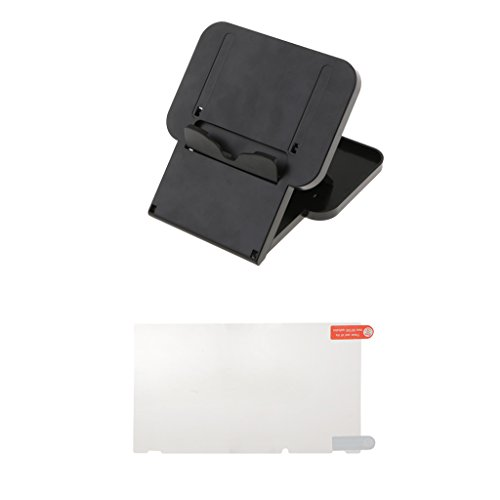 MagiDeal Compact Playstand Desktop Stand Mount+Screen Cover Film For Nintendo Console
