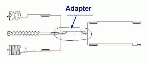 S&R ADAPTER-Verbindung /Made in Germany/ SDS-MAX -- SDS-MAX für Bohren bis 2,3 Meter, inkl. Spezial-Adapterfett, 30x190 mm ermöglicht eine schnelle Verbindung von Verlängerungen für Arbeitslängen bis zu 2,3 METER mit S&R Verlängerungen für große Bohrtiefen. PROFI Adapter Made IN GERMANY