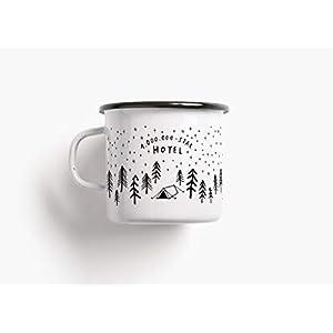 Emaillebecher Tasse - 1.000.000 Stars - von typealive - Becher in schwarz und weiß mit Spruch zum Campen, als Geschenk für Weihnachten oder Geburtstag