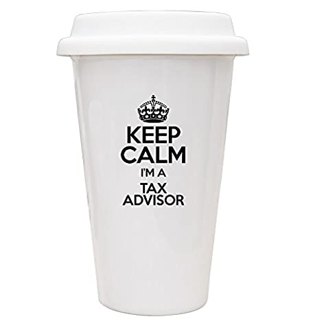 BLACK Keep Calm I'm a Tax Advisor ECO Travel Mug