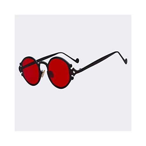 FGRYGF-eyewear2 Sport-Sonnenbrillen, Vintage Sonnenbrillen, NEW Oval Sunglasses Women Luxury Brand Designer Shades Sun Glasses Men Metal Round Eyewear Vintage Sunglass Black w sea red