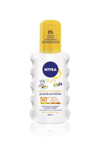 Nivea Sun Kids – Pure&Sensitive SPF50 (Spray), 200 ml