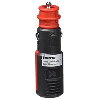 Hama Sicherheits-Universalstecker 16 A für KFZ Zigarettenanzünder-Buchse (für Kabel bis 2 x 2,5 mm², 6V - 24V, KFZ Stecker mit Zugentlastung) rot/schwarz