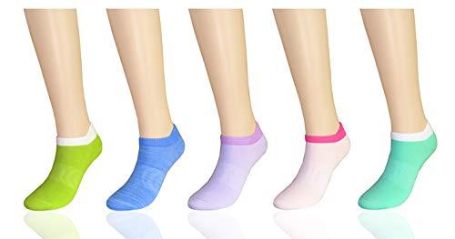 MYMYU Damen No Show/Low Cut Performance Athletische Socken Laufschuhe Heel Tab Socken - 5 Paar (MIX 3)