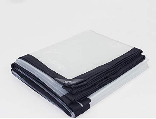 XRFHZT Plane Kunststofftuch transparenter Poncho Isolationstuch dekorativer Planenstaub,6mX6m