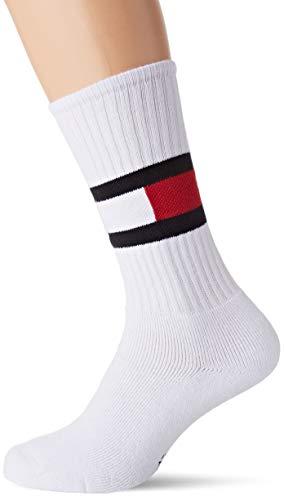 Tommy Hilfiger Herren TH JEANS FLAG 1P Socken, Weiß (White 300), (Herstellergröße: 43/46)