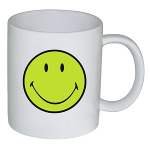 Zak Designs 6662-1591 Smiley Mug Vert/Blanc 35 cl