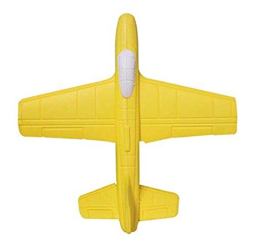 (Kind werfen Flugzeug Spielzeug Modell Outdoor Eltern-Kind Sport Spielzeug-Gelb)