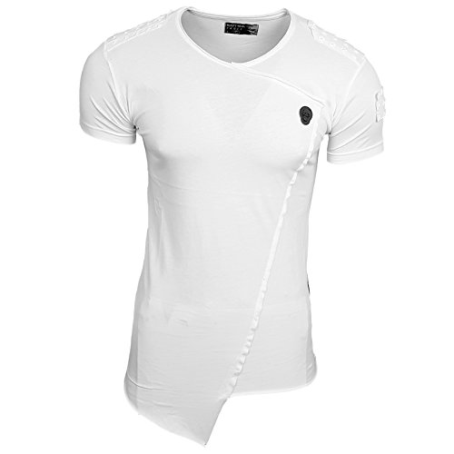 HERREN T-Shirts Druck Größe S M L M XL XXL kurzarm Text RN15103 Weiß