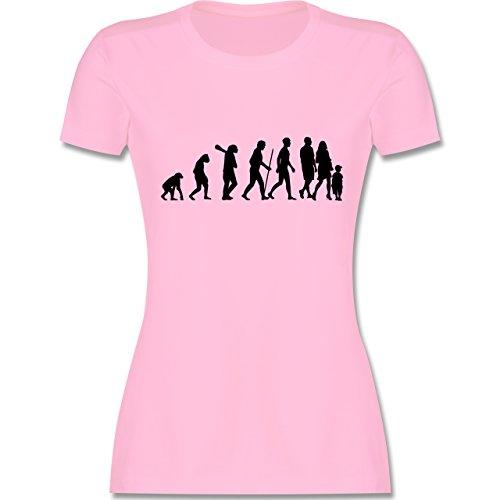 Evolution - Familie Evolution - tailliertes Premium T-Shirt mit Rundhalsausschnitt für Damen Rosa