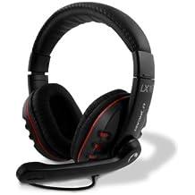 Lioncast LX16 - Auriculares gaming de diadema cerrados (con micrófono) color negro