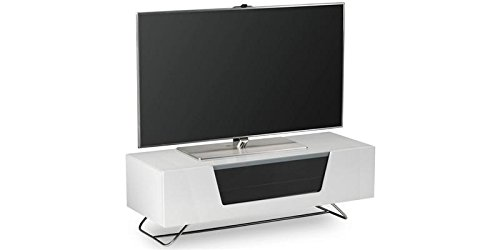 Alphason Chromium White TV Stand for up to 60 inch TVs Best Price and Cheapest