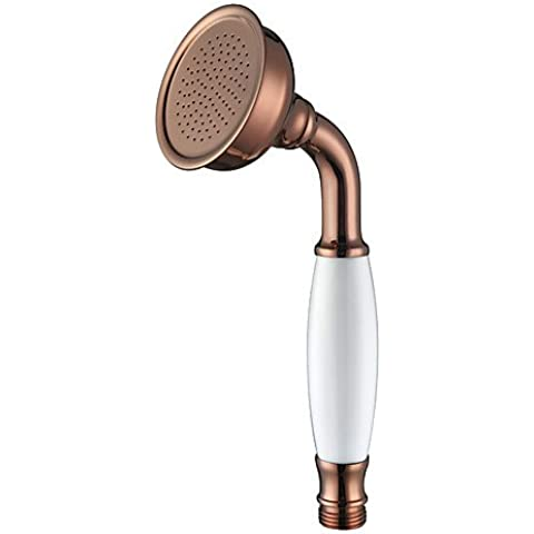 HuaJing® Contemporáneo Rosa de Oro Brass Finish manejado cabezal de ducha