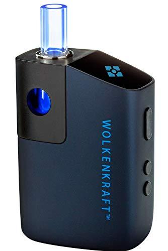 WOLKENKRAFT FX Mini Premium-Vaporizer/VERDAMPFER FÜR KRÄUTER, WACHSE, ÖLE + KONVEKTIONSHEIZUNG + 25 SEK. AUFHEIZUNG + AUSZIEHBARES GLASMUNDSTÜCK + HOHE Sicherheit *Nachtblau* - NIKOTINFREI!!