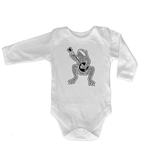 123t Baby Strampler/Strampelanzug, Marke 2401 Gr. 6-12 Monate, Toad Plaing Banjo Baby - Haut Banjo
