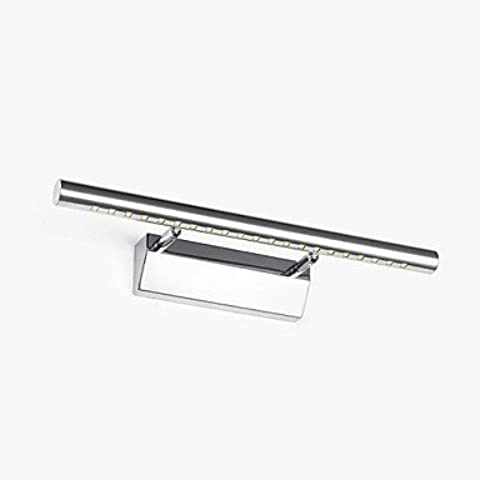 ASNSWDC® alluminio ha portato tubo tondo lampada specchio 5W 100