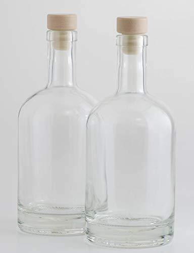 Casa-vetro 3, 4 o 6 bottiglie di vetro bottiglia 500 ml nocturne-hgk 0,5 litri grappa bottiglia succo, vetro, bianco, 3 pezzi