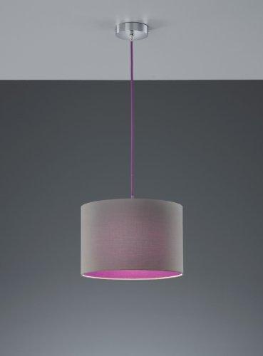 Trio-Leuchten-Pendelleuchte-Stoffschirm-wei-innen-Kabel-orange-308500101