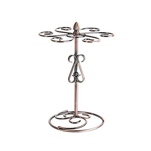 QXX Metall Weinglas Halter, Arbeitsplatte Wein Tasse Wäscheständer Halter stehend Tischplatte Stemware Rack 16x23x33cm -